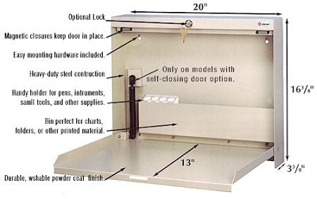 Wall Mounted Desks Laptop Desks Charting Stations - Wall mounted fold up desk