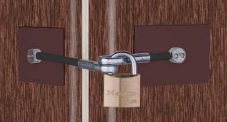 Dark Brown Dorm Fridge Lock