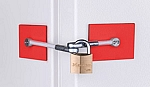 Safety Red Refrigerator Door Lock