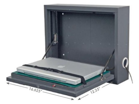 Laptop Storage Wall Desk With Electronic Lock
