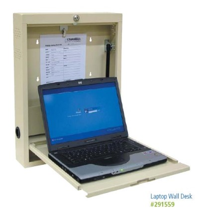 Laptop Desk Safely Stores Laptop Computers. Includes Keypad Locking, And 1.5