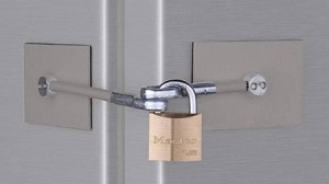 Stainless Steel Refrigerator Lock