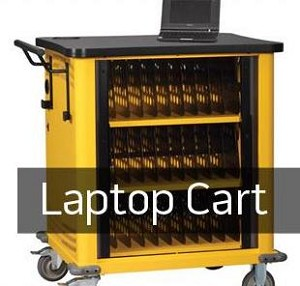 Laptop Storage Cart with Charger