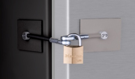 Black Stainless Refrigerator Lock For Two Tone Appliances